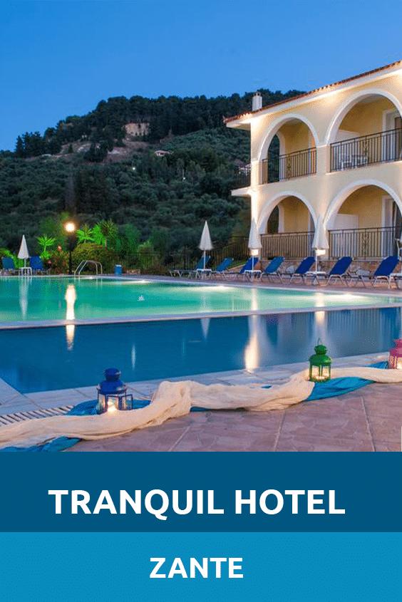 Tranquil Hotel Zante Sensory Traveller Holidays