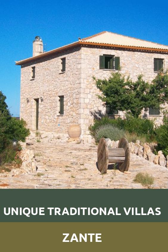 Unique Traditional Villas Zante Sensory Traveller Holidays