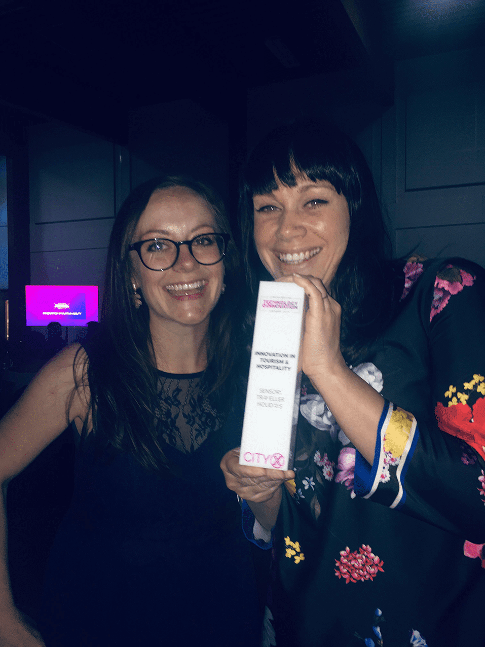 Gemma & Atma at the Awards Sensory Traveller Holidays