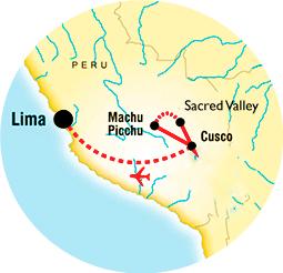 Map Peru Tour Sensory Traveller Holidays